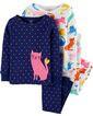 Комплект бавовняних піжам Котик з 4-х частин