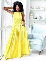 Модное женское платье в пол большого размера