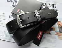 Мужской ремень для джинсов Levis черный