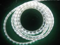 Светодиодная лента 220В 60ЛЕД IP65 герметик силикон (Премиум) Белая Теплая