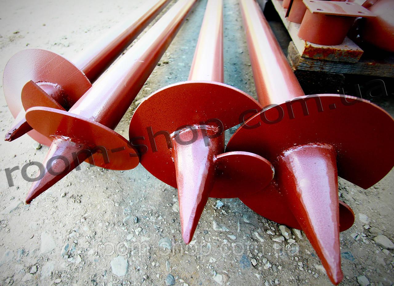 Винтовые сваи (гвинтові палі) диаметром 76 мм., длиною 2 метра