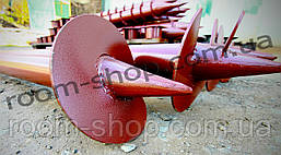Гвинтові палі (гвинтові палі) діаметром 76 мм, довжиною 2 метри, фото 3