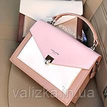 Ніжна жіноча сумка від David Jones якісна рожева, фото 3