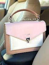Ніжна жіноча сумка від David Jones якісна рожева, фото 2