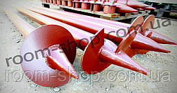 Широколопастные сваи (гвинтові палі) диаметром 76 мм., длиною 3 метра, фото 3