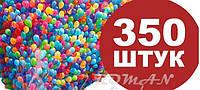 350 штук. Кульки повітряні, надувні 13-15 див., фото 1