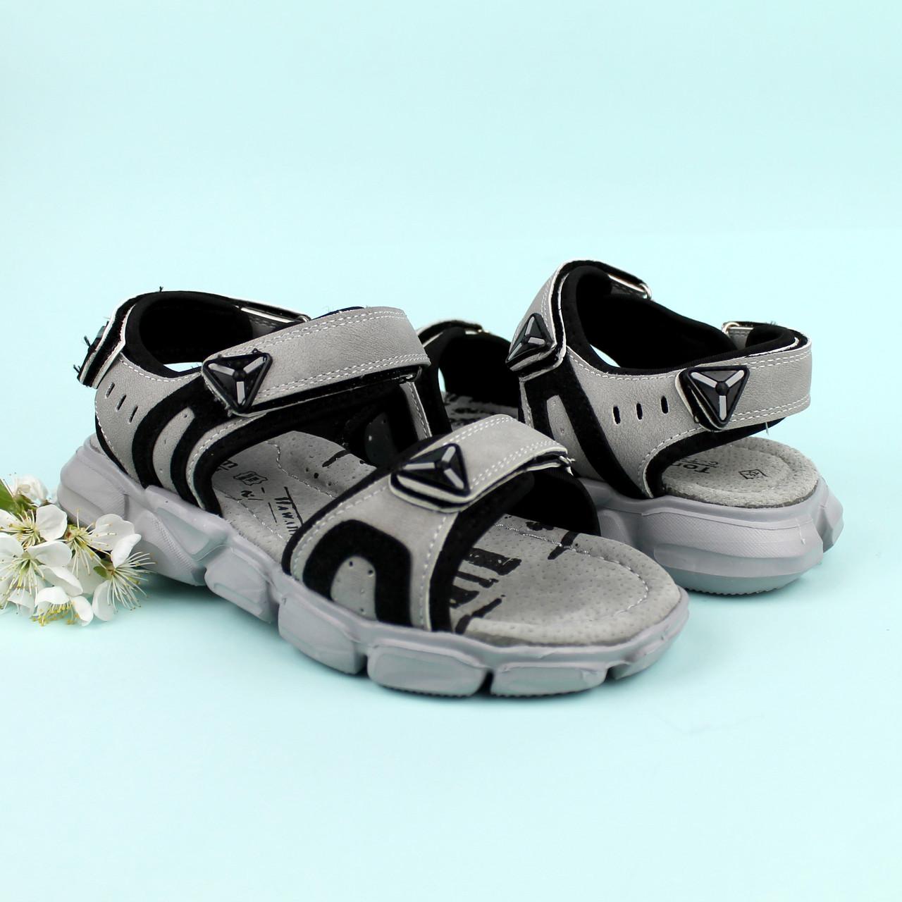 Босоножки подростковые спортивные открытый носок на мальчика Том.м размер 34,35,37