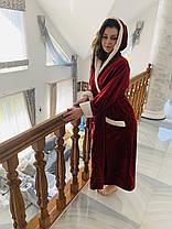 Махровий жіночий халат довгий Місіс, фото 2
