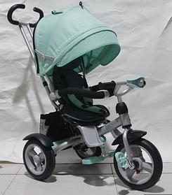 Детский трехколесный велосипед-коляска CROSSER T 503 AIR WHEEL бирюзовый