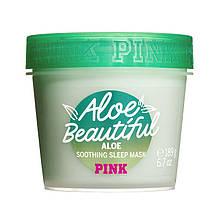 Ночная маска для лица и тела с алое Victoria's Secret PINK Aloe Beautiful Soothing Sleep Face and Body Mask
