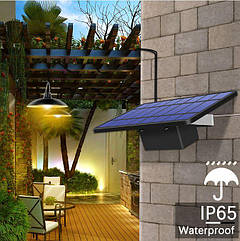 Светильник на солнечной батарее 16Led + 16Led 520 Lm лампы для помещений