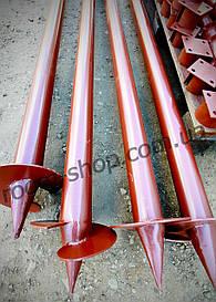 Гвинтові палі однолопастные (палі) діаметром 76 мм, довжиною 4.5 метра