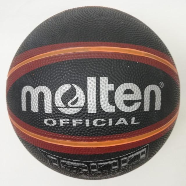Мяч баскетбольний №7 MOLTEN B7R-1500BKBR гумовий чорний з помаранчевим