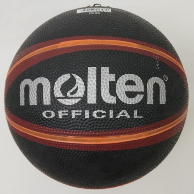 Баскетбольний м'яч №7 MOLTEN B7R-1500BKBR гумовий чорний з помаранчевим
