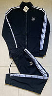 Мужской турецкий спортивный костюм Puma темно- синего цвета