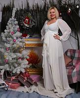 Вечернее платье Белое шифоновое