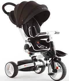 Детский трехколесный велосипед-коляска складной Crosser MODI T 600 ROSA черный