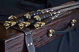 """Эксклюзивный набор аксессуаров для шашлыка """"The Black Pearl"""", в футляре из дерева с гравировкой, фото 2"""