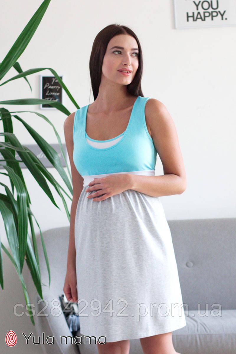 Нічна сорочка для вагітних і годуючих (ночная сорочка для беременных и кормящих) SELA NW-1.8.9
