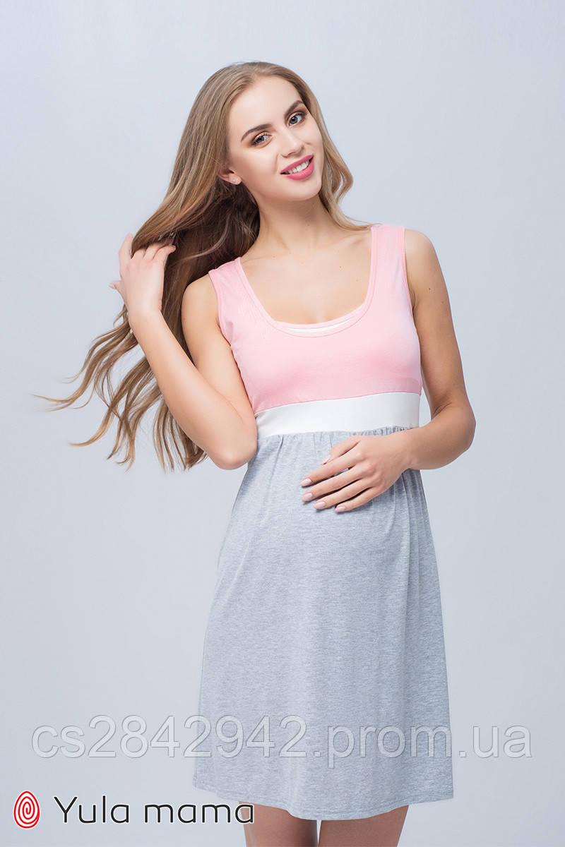 Нічна сорочка для вагітних і годуючих (ночная сорочка для беременных и кормящих) SELA NW-1.8.10
