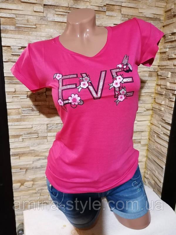 Жіноча футболка, бавовна. Розмір 44-46
