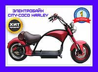 Чоппер электробайк City-Coco Harley. Электромотоцикл Сити Коко choper