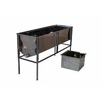 Стол пасечный (приспособление) для распечатывания сотов (1,5 м / 0,8 лист с глубокой корзиной)