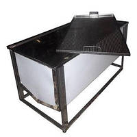 Стол пасечный (приспособление) для распечатывания сотов (1 м / 0,5 лист с плоской корзиной)