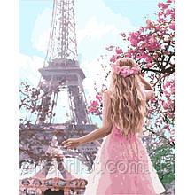 """Картина по номерам """"Влюблена в Париж"""", 40х50 см, 4*"""