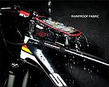 Велосумка на раму с отделом для смартфона черная, фото 7