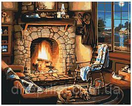 """Картина по номерам """"Вечер у камина"""", 40х50 см, 5*"""