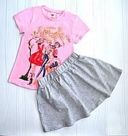 Летний костюм для девочки на рост 98 см , 104 см, 110 см(, 122 см, 128 см 4088) 104 см