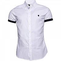 Рубашка 883 Police Foggia Short Sleeve Shirt White Navy - Оригинал
