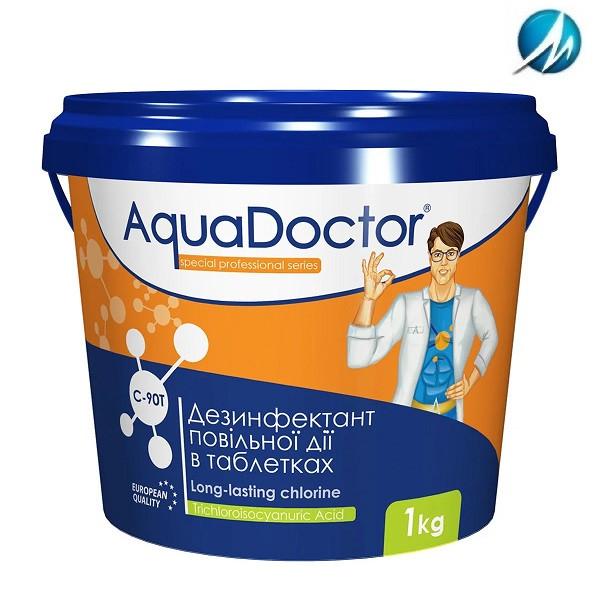 Дезинфектант на основе хлора длительного действия AquaDoctor C-90T, 1 кг