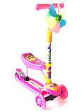 Самокат - Беговел детский Scooter R6 трансформер с сидушкой и  вертушкой, фото 4