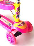 Самокат - Беговел детский Scooter R6 трансформер с сидушкой и  вертушкой, фото 6