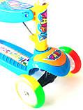 Самокат - Беговел детский Scooter R6 трансформер с сидушкой и  вертушкой, фото 7