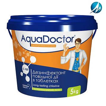 Дезинфектант на основе хлора длительного действия AquaDoctor C-90T, 5 кг