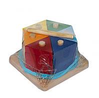 """Пирамидка """"Цветной тортик"""""""