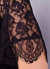 Квітка. Гіпюрова блузка великих розмірів. Чорний., фото 6