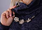 Муза. Кофточка з шарфом для жінок плюс-сайз. Синій., фото 8