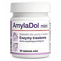 Пищевая добавка Dolfos AmylaDol Mini для котов и собак мелких пород, 90 табл.