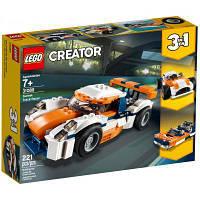 Конструктор LEGO Creator Оранжевый гоночный автомобиль 221 деталь (31089)