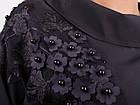 Милана. Стильная блуза больших размеров. Черный., фото 6