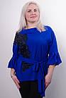 Мілана. Стильна блуза великих розмірів. Електрик., фото 2