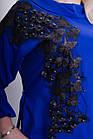 Мілана. Стильна блуза великих розмірів. Електрик., фото 6