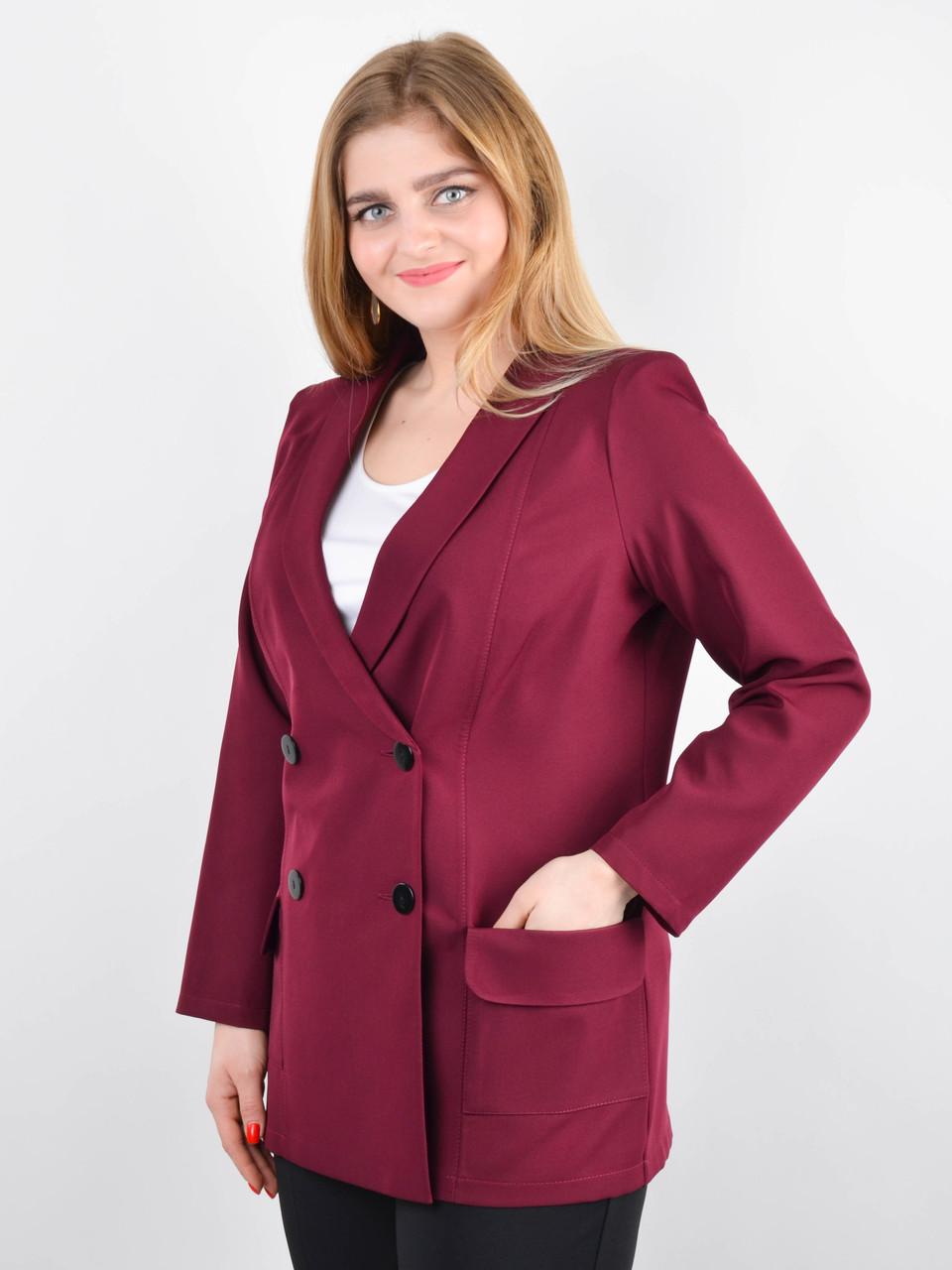 Дольче. Піджак для офісу plus size. Бордо.