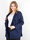 Дольче. Пиджак для офиса plus size. Синий., фото 3