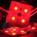 Светодиодный модуль smd 5050 красный 4 диода, фото 3