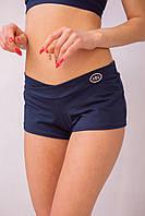 602(55)02 Шорты женские для беременных Синие